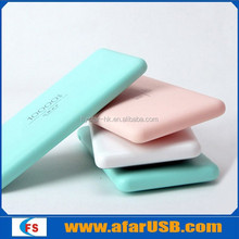 High quality 10000mAh power bank for all phones, beautiful cute thin portable power bank for girls