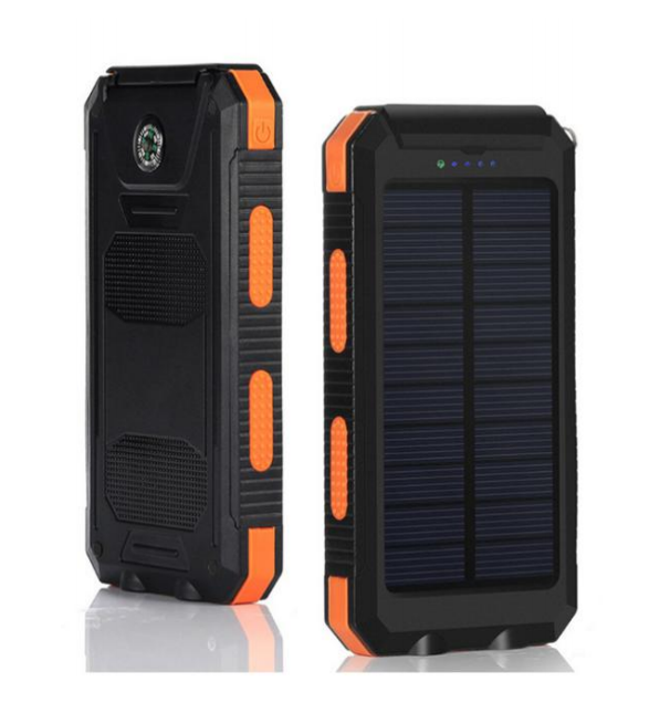 universal power bank charger with light solar charger for mobile solar power bank charger