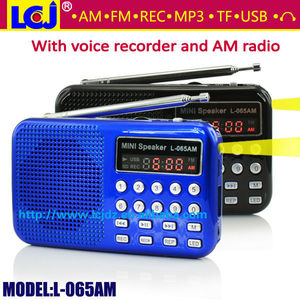 L-065AM 2018 mp3 player AM FM radio voice recorder, multifunctional digital voice recorder