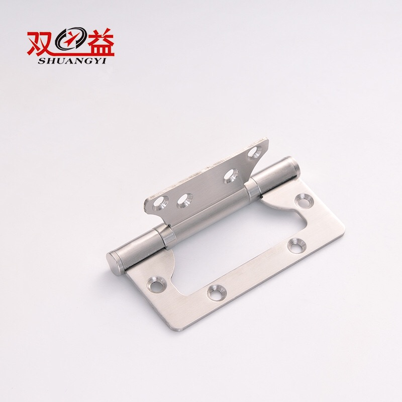 Furniture hardware 4 inch slide flush door hinge with round corner