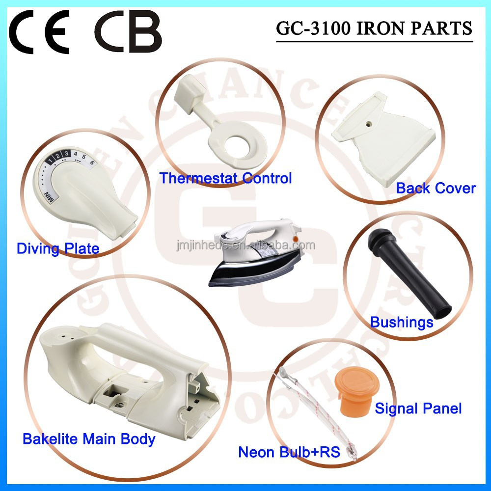 Electric dry iron spare parts dry iron handle CKD & SKD