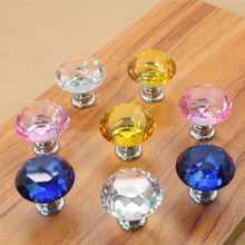 Bk1013 Diamond Shape Crystal Glass Drawer Cabinet Knobs and Pull Handles Kitchen Door Handles Wardrobe Hardware
