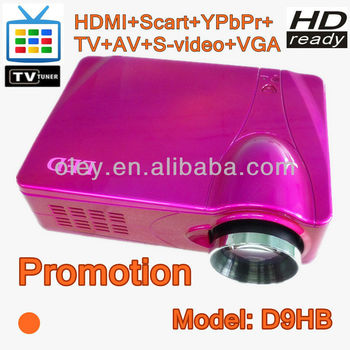 Low noise projector manufacturer 1080p projector built in TV tuner, vga/ AV/ HDMI/ S-Video/ YPbPr ports