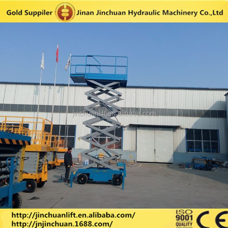 China famous brand JINCHUAN mobile scissor lift for repairing