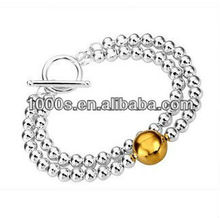 Fashionable Bracelet Jewelry/ Silver Beads Jewelry