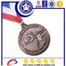 Custom metal sports medal for marathon match 2015