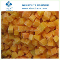China Supply Frozen IQF Pumpkin cut