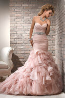 wedding dresses china sweetheart mermaid bridal gowns 2014 new pink prom dresses