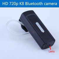 HD 720p bluebooth headset camera k8 hidden video Audio DVR Earphone Style Mini Camcorder micro recorder Ears hanging cam