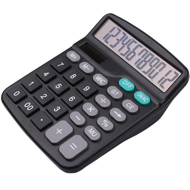 INTERWELL CR61 Desktop Calculator, Promotion 12 Digits Solar Energy Calculator