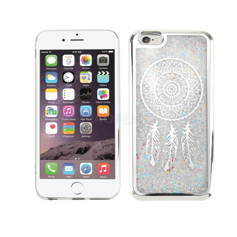 Customizable Pattern Electroplated Tpu Glitter Mobile Phone Cover Liquid Cell Phone Case For Iphone 6S Plus