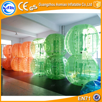 Guangzhou Football inflatable body zorb ball in half color body bubble ball for sale