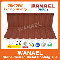 USA/Canada popular stone coated metal roof tile, Wanael heat resistant roof