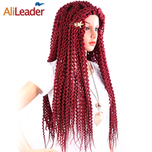 AliLeader Top Selling Wholesale Senegalese Twist Freetress Crochet Hair, Afro Kinky Curly Freetress Water Wave Hair Extension