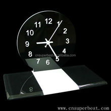 customised desktop black acrylic clock display