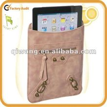 vintage leather case for ipad 3 with studs decoration/cute unique leather holder for ipad 3