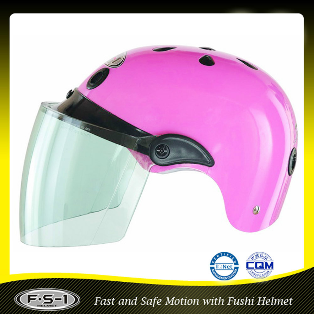 Sweet pink mini half face ladies motorcycle vietnam helmet
