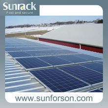 Solar pv metal roof mounting system with complete components