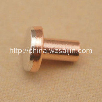 Manufacture Electrical Sliver Bimetal Contact Rivets Point for Switch