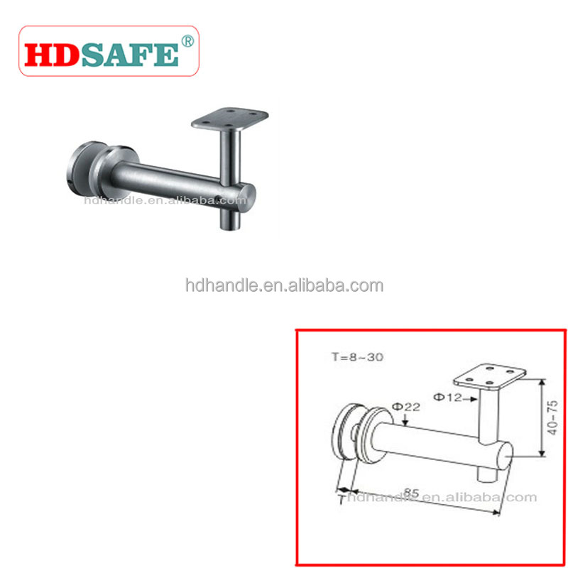 Customized adjustable handrail bracket for stair
