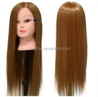 Wholesale training Mannequin head with color synthetic hair in STOCK