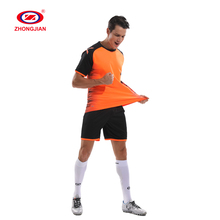 breathable wicking blank soccer clothes club tshirts suit sport wear plain football tracksuit