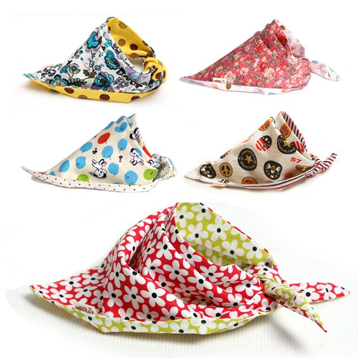 Girls And Boys Cotton Triangle Children Feeding Accessories baby bibs