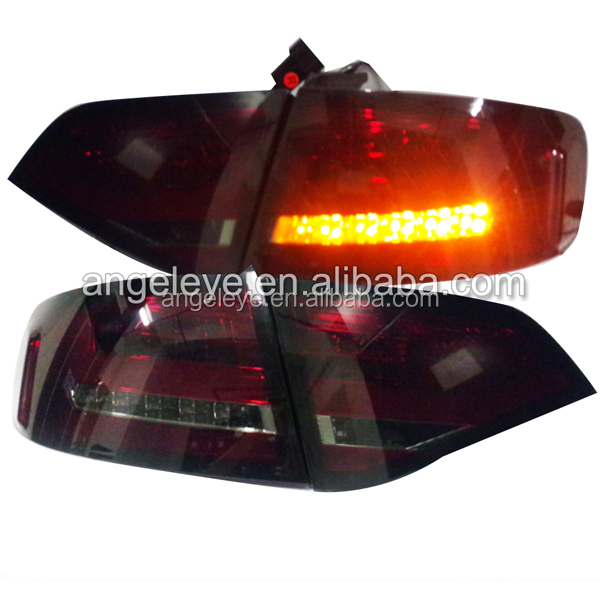 2008-2012 year led rearlights For Audi A4 B8 LED Tail light Fit original car with Halogen Back Lamp dark redSN