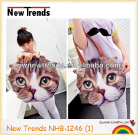 Cute air brush cat shape PU bag