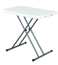 small cheap outdoor and indoor HDPE blow molding portable plastic white folding adjustable persoal computer table