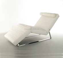 lounge chair LC07 / Soft chaise lounge / Fabric couch