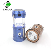 Wholesale Collapsible 1W+6 Led Solar Rechargeable Lantern for camping