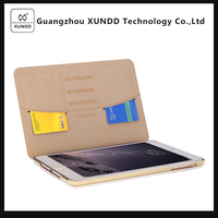 [XUNDD]Best Selling Encore Series Golden Flip Wallet Leather Case Cover for Apple iPad Mini with Card Holders
