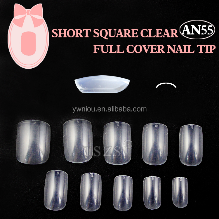 600PCS Short square free false nail tips acrylic nails
