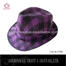fedora hats wholesale gangster purple fedora hats