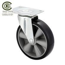 65mm wheel light mid duty antique metal rollerblade office chair wheels silicone furniture casters