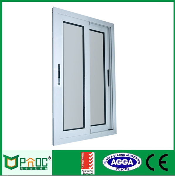 Thermal break double glazed aluminum sliding window with AS2047