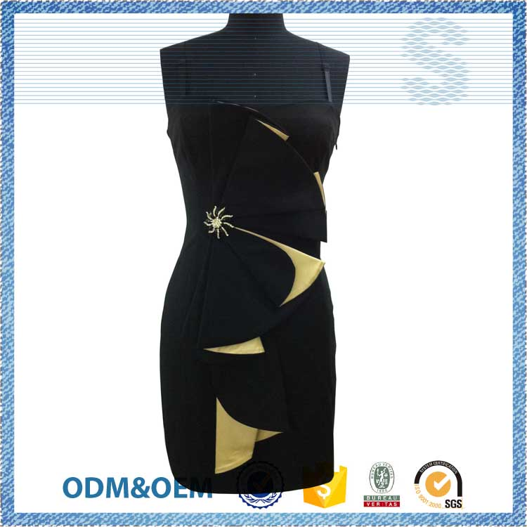 LOGO customized 2016 New Style latest one piece dress patterns for party girls