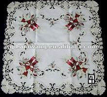 christmas tablecloth with embroidery and cutwork