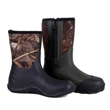 2017 Camo cheap waterproof Warm Men Neoprene Rain Boots SY-16