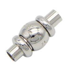 3mm Hole Drum Shape Stainless Steel Magnetic Clasps Jewelry Findings For Round Leather Cord Bracelet Necklace BXGC-131