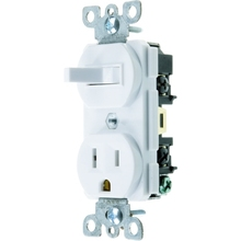 UL Listing, 15 AMP, 120 Volt, Combination Switch