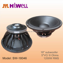 "18TBW100 type 18"" Professional Subwoofer 8 Ohm unit speakers"