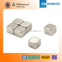 "ISO9001 TS16949 super strong magnetic block neodymium magnet 1""X1""X1"""