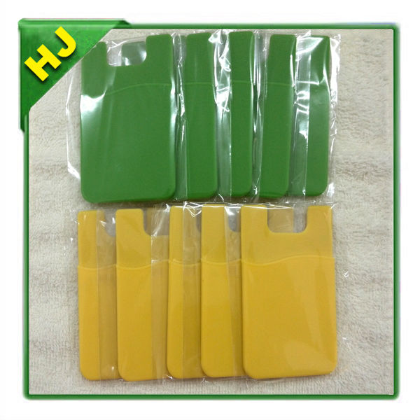 Pouch Adhesive accessory pocket for all iPhone, iPod Touch, Galaxy S & Android smart phones - GREEN