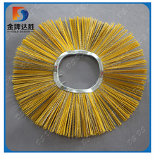 Curving Core Poly and Steel Wire Sweeping Snow Ring Wafer Segment Road Sweeper Brush