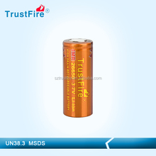TrustFir 3400 mah 26650 battery imr 26650 rechargeable batteries for E-mod/flashlights/chargers