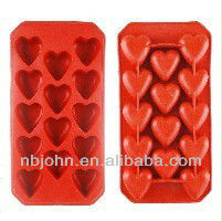 heart shape chocalate and cake trays