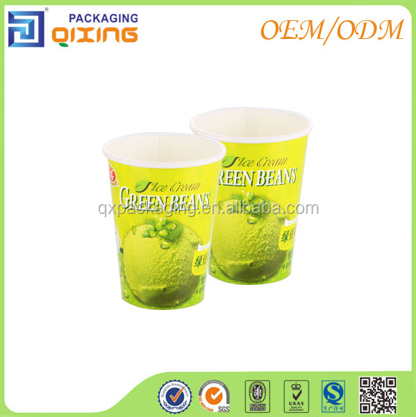 Well printing custom logo cheap bulk ice cream paper cup