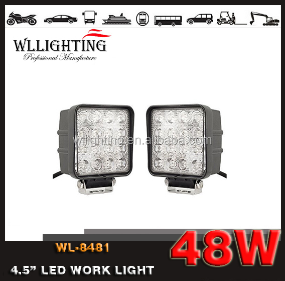 Wllighting 48 watt Working led lights 12v offroad auto 48w led working light for car